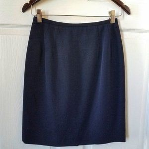 Charter Club Blue Wool Lined Pencil Skirt